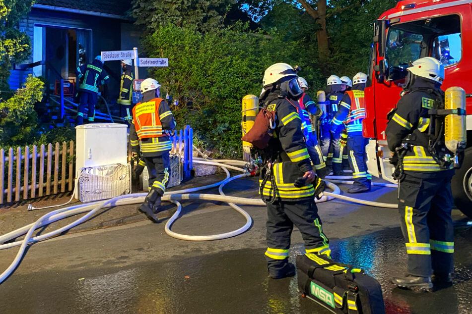 Brand in Neu-Anspach löst großen Feuerwehr-Einsatz aus