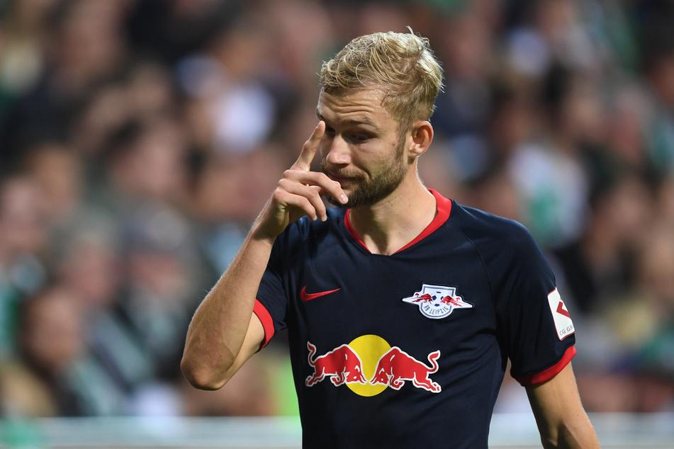 Konrad Laimer (23) leidet noch immer unter Knieschmerzen.