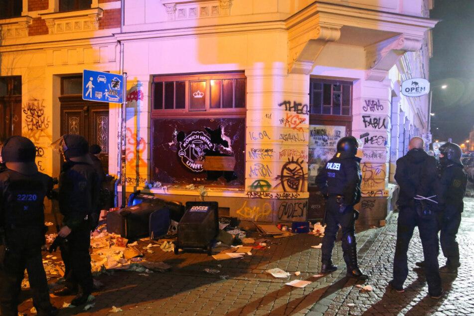 Einer der Verurteilten reiste zu den Krawallen nach Leipzig-Connewitz im Januar 2016.