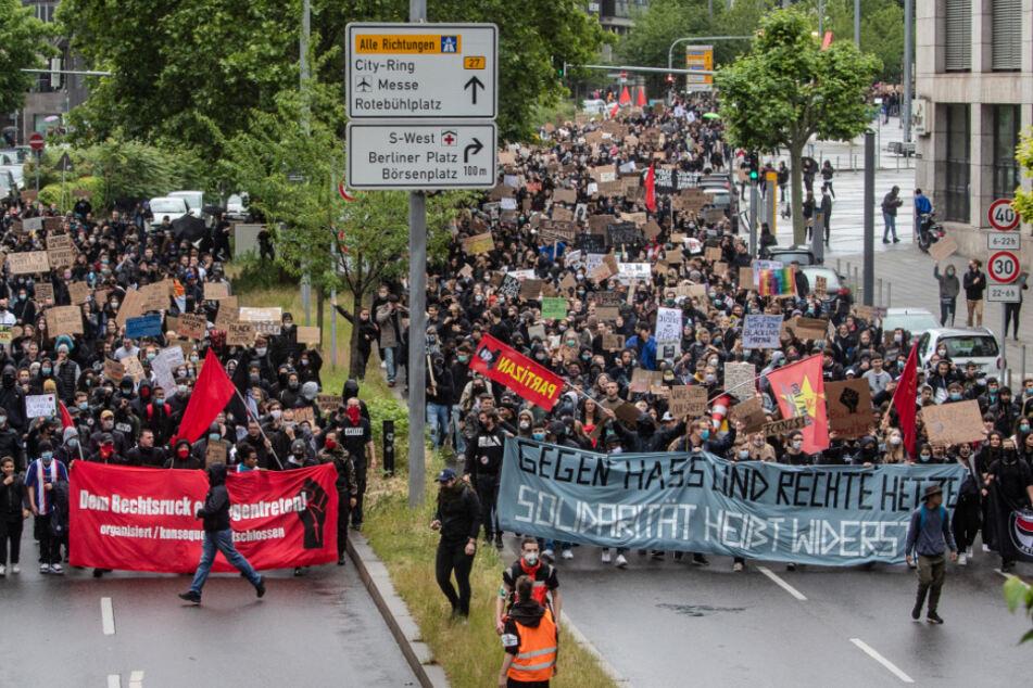 Demo-Teilnehmer am Samstag.