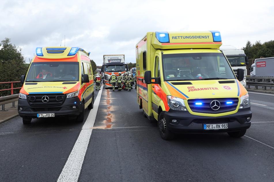 Zwei Rettungswagen und ein Rettungshubschrauber wurden zum Unfallort alarmiert.