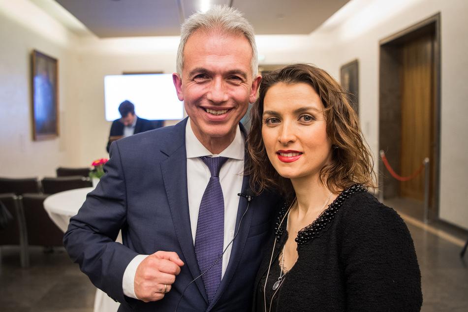 Peter Feldmann (SPD), Oberbürgermeister von Frankfurt am Main, zusammen mit seiner Frau Zübeyde.