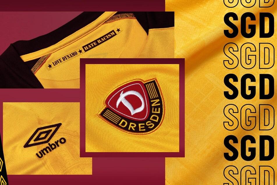 Die Details auf dem neuen Dynamo-Trikot.