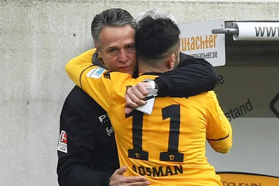 Doch kein Abschied: Uwe Neuhaus wird Aosman ebenfalls in Dresden zurückerwarten.