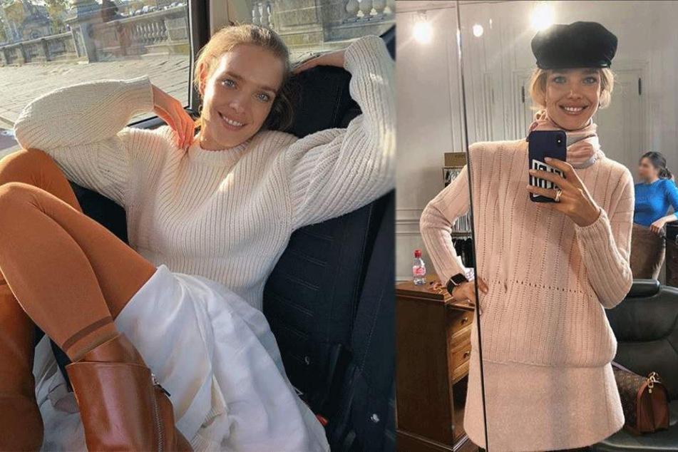 Model macht Selfie, aber alle interessieren sich für etwas ganz anderes im Bild