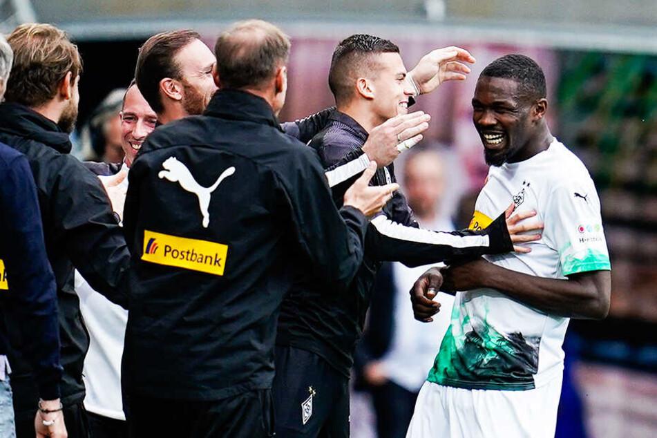 Marcus Thuram (r.) und seine Teamkollegen haben sich nach der Europa-League-Blamage wieder gefangen.
