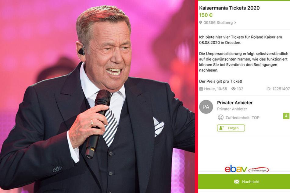 Trotz Online-Verkauf war nach kurzer Zeit ein erstes Angebot bei Ebay eingestellt. Zum Wucher-Preis von 150 Euro pro Ticket!