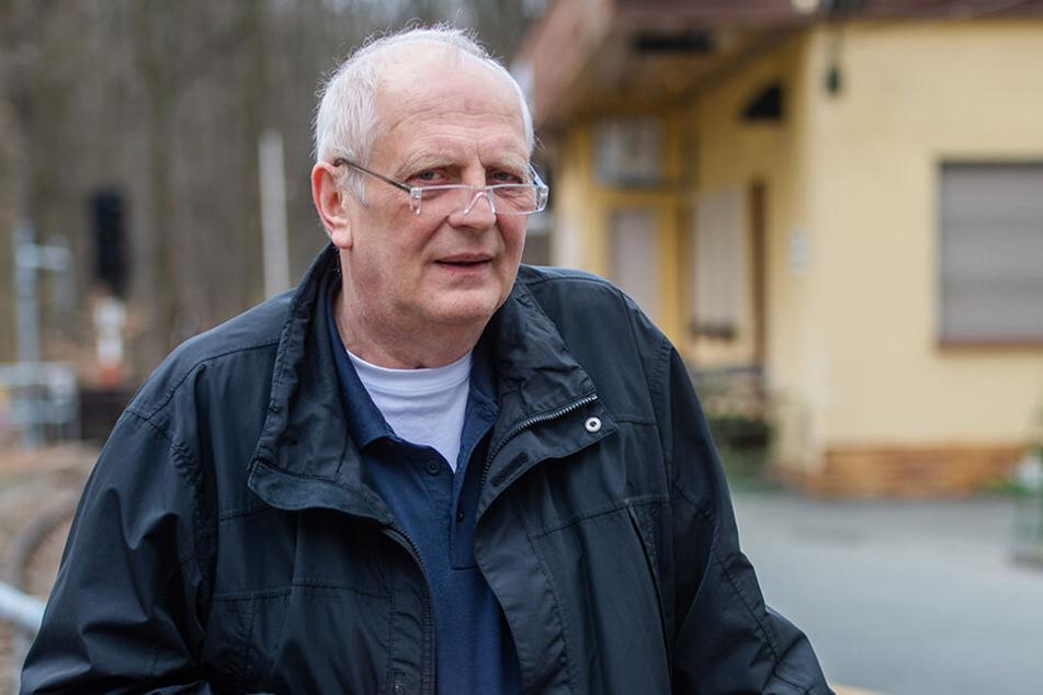 Parkeisenbahn-Chef Matthias Dietel (63) ist wütend über die sinnlose Zerstörungswut.