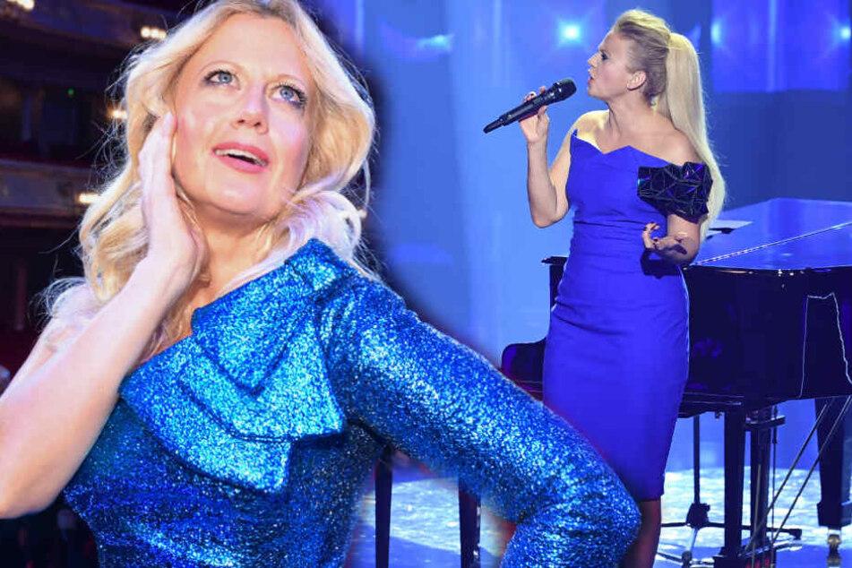 Barbara Schöneberger steht ständig ganz entspannt vor Publikum, doch wenn sie singt geht ihr die Sause. (Bildmontage)