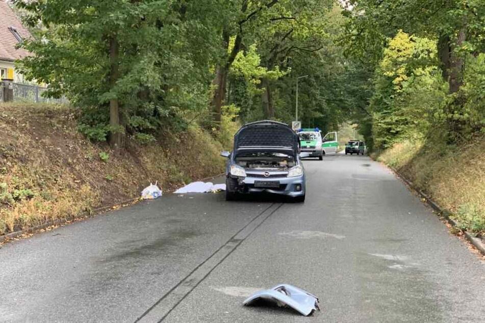 Der Autofahrer konnte nicht mehr bremsen, als plötzlich ein Mann auf die Fahrbahn fiel.