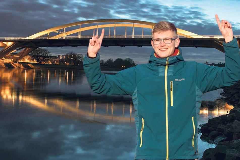 Dresdens Waldschlösschen-Brücke soll weltgrößter Schwibbogen werden
