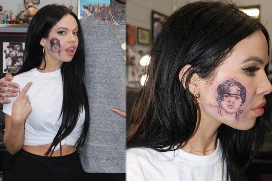 Sängerin, die sich für One Direction Tattoo auf die Wange stechen ließ, lässt die Bombe platzen