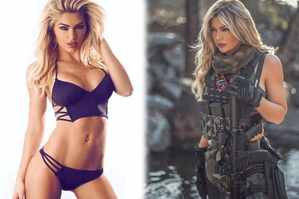 Als sexy Model und Soldatin begeistert Shannon Ihrke ihre Follower auf Instagram.