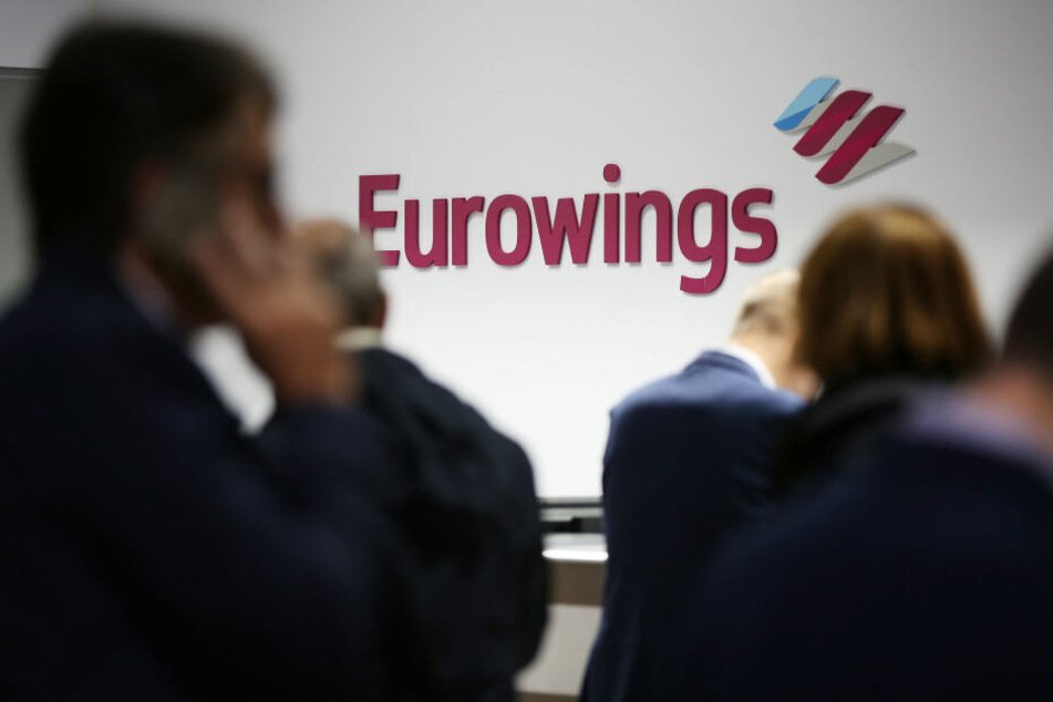Ein Eurowings-Schalter am Flughafen Köln/Bonn.