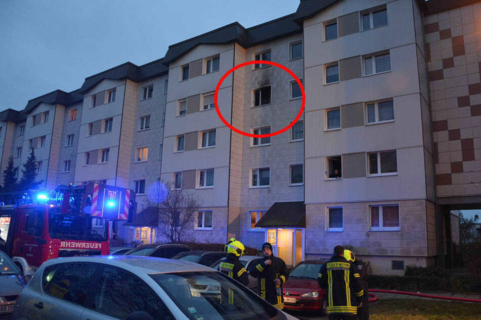 In dieser Wohnung brach am frühen Samstagmorgen ein Feuer aus.
