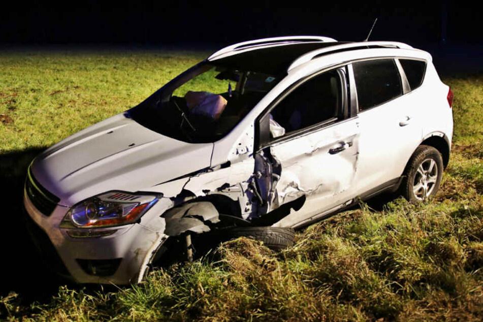 Der zerstörte Ford Kuga des 44-Jährigen.