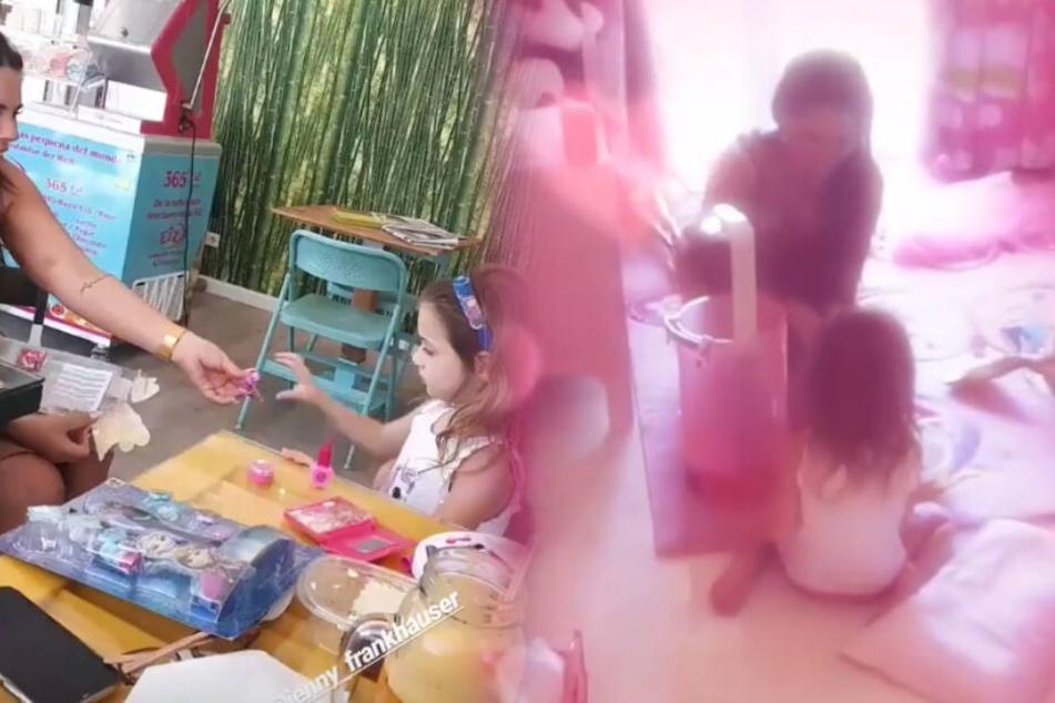 Erst spielen Jenny und Sophia im Café von Iris Klein, dann im Kinderzimmer der Vierjährigen. (Fotomontage)