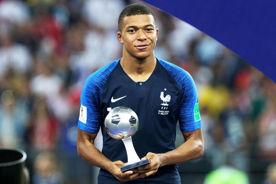 Wurde bei der Weltmeisterschaft 2018 als bester junger Spieler ausgezeichnet: Kylian Mbappé.