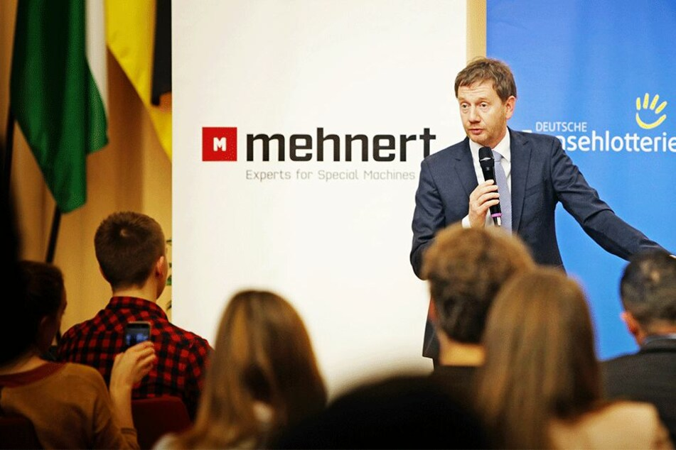 Im Gespräch mit der Jugend: MP Kretschmer rät zur Eigeninitiative