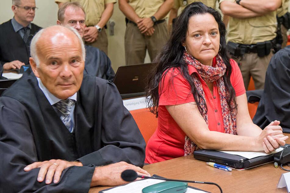 Beate Zschäpe am Dienstag beim Prozess in München.