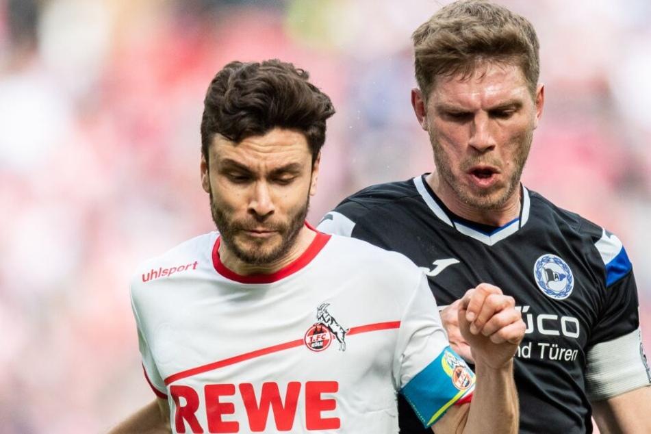 Fabian Klos (r.) appelliert nach der Köln-Niederlage an die Mannschaft.