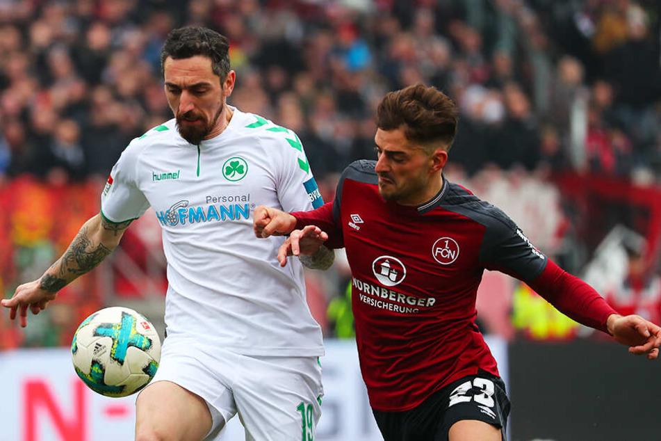 Duell der Erzrivalen: Der 1. FC Nürnberg und die SpVgg Greuther Fürth treffen in der kommenden Saison wieder aufeinander. (Archivbild)