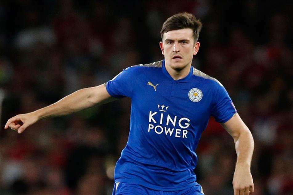 """Maguire im Trikot der """"Foxes"""". Vergangene Saison spielte er 31 Spiele und erzielte dabei drei Tore für Leicester."""