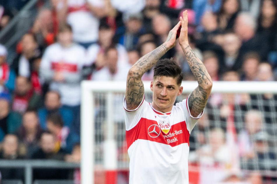 Ließ sich ausgiebig feiern: VfB-Torschütze Steven Zuber.