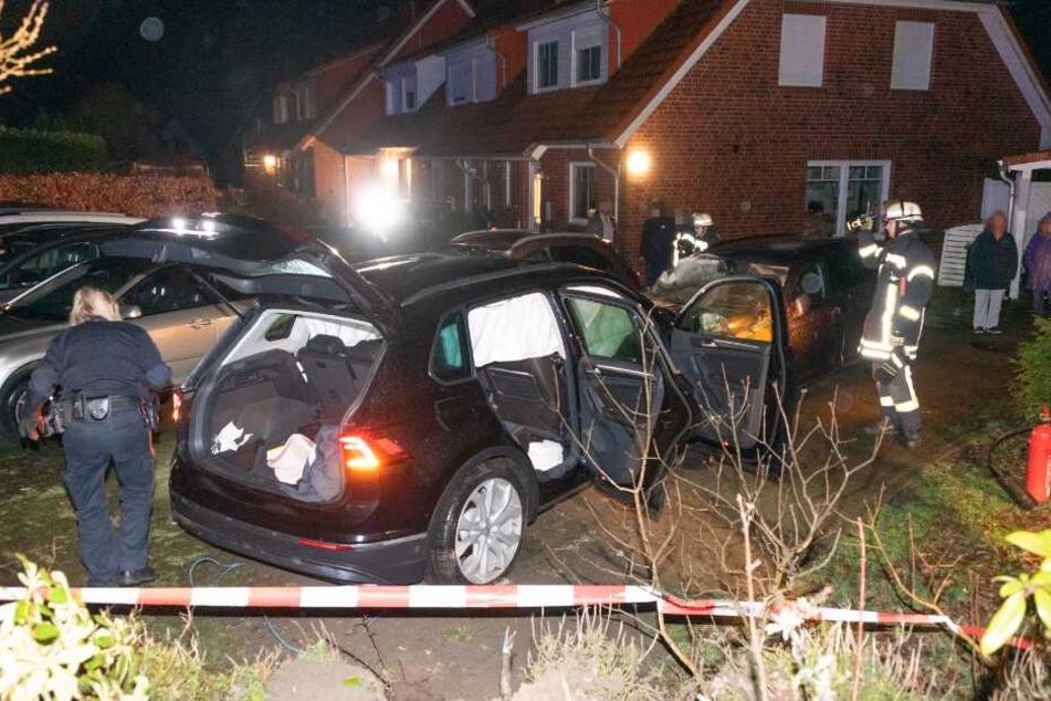 Von dem Fahrer fehlte nach dem Unfall jede Spur.