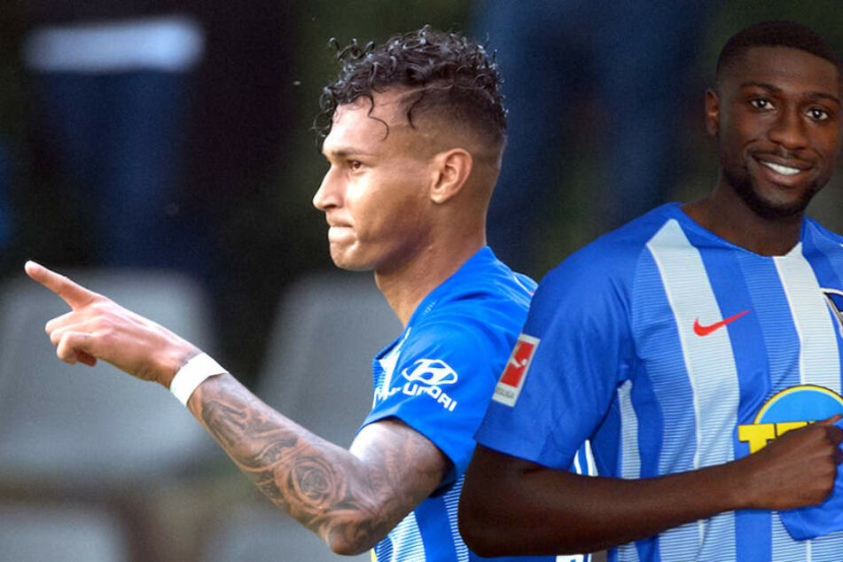 Davie Selke (23) fehlt gegen Schalke 04 auf jeden Fall – womöglich auch Derrick Luckassen (23). (Bildmontage)