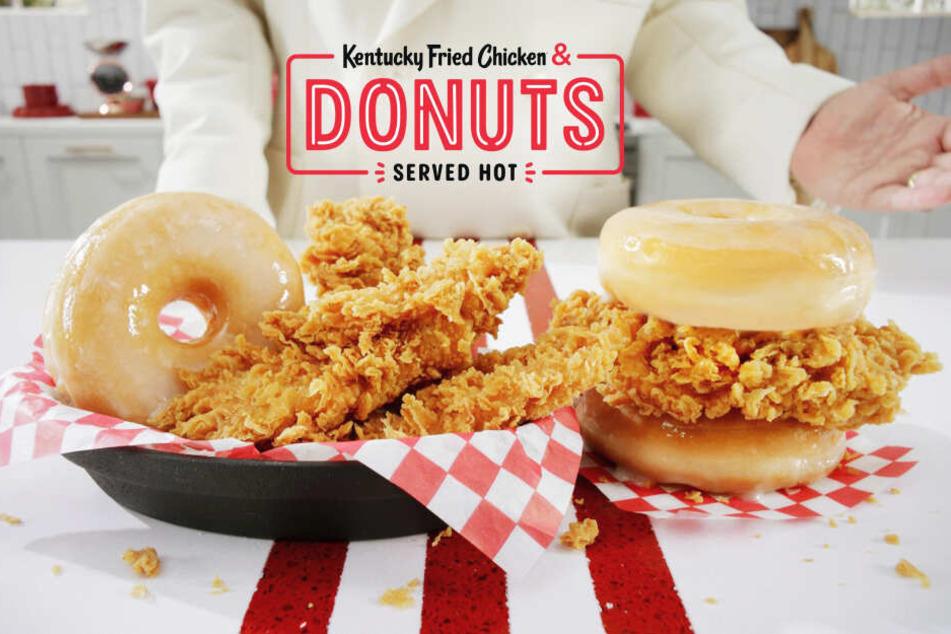 Burger mit Donuts sollen ein Verkaufsschlager in den USA sein.