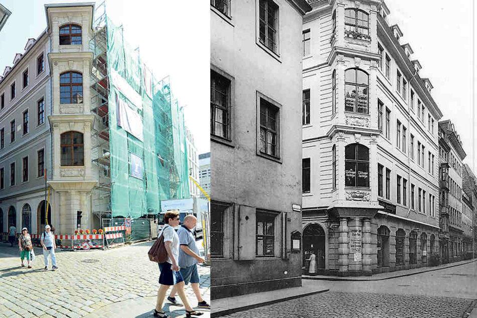 """Von 1940 bis 1945 diente das Triersche Haus als""""Judenhaus"""".Mitte November soll das Haus fertig sein. Gebaut wird seit August 2014."""