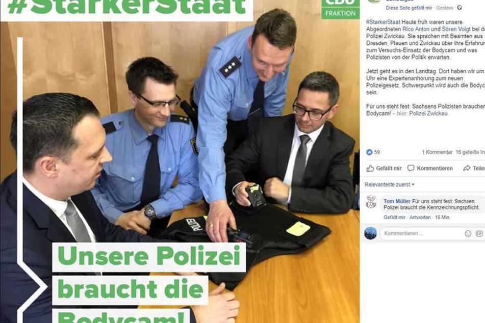 Ist das erlaubt? CDU-Politiker besuchen Polizei in Zwickau!