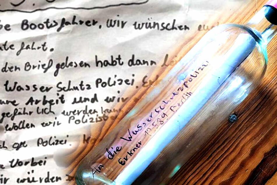 Zwei Jungs schreiben Flaschenpost an Polizei und haben besonderen Wunsch!