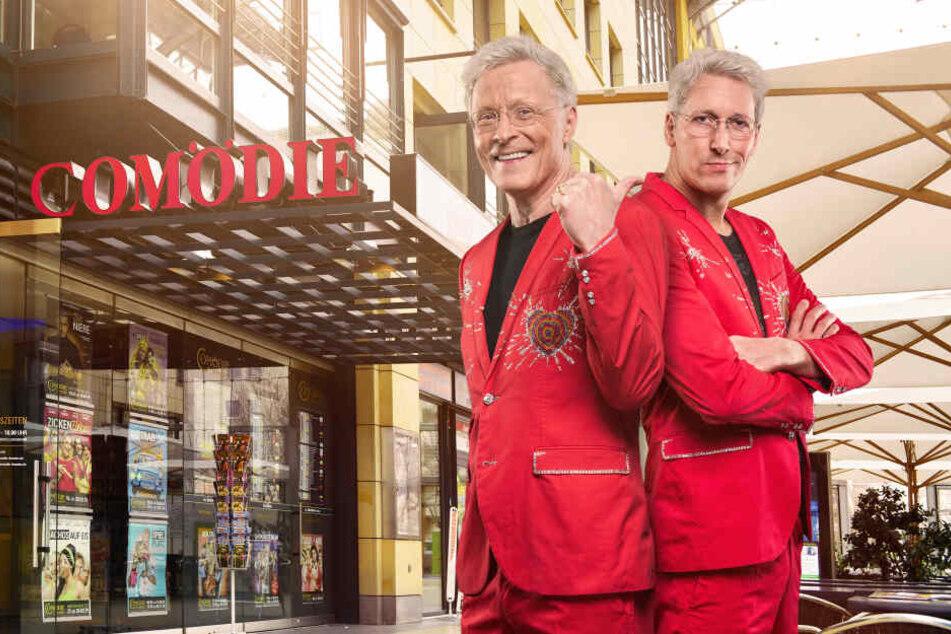 Huch! Multiunternehmer Wolle Förster (l.) hat mit Schauspieler Philipp Richter einen feschen Doppelgänger gefunden.