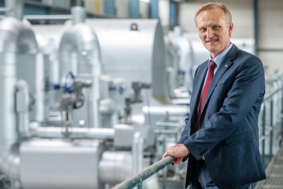 Eins-Geschäftsführer Roland Warner (55) will bis 2029 60 Prozent der gesamten CO2-Emissionen einsparen.