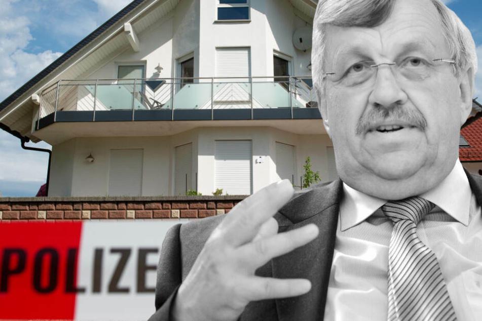 Fotomontage: Der Kasseler Regierungspräsident Walter Lübcke wurde mit einer Schusswunde am Kopf im Garten seines Wohnhauses entdeckt.