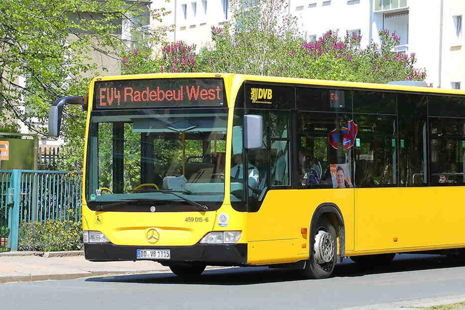 Betroffen von dem heutigen Warnstreik ist voraussichtlich auch die Linie EV4 in Dresden.