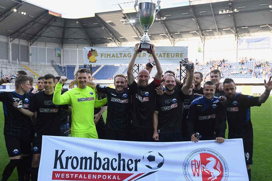 Mit einem 1:0-Sieg gegen die Sportfreunde Lotte im Finale des Westfalenpokals qualifizierte sich der SCP für den DFB-Pokal.