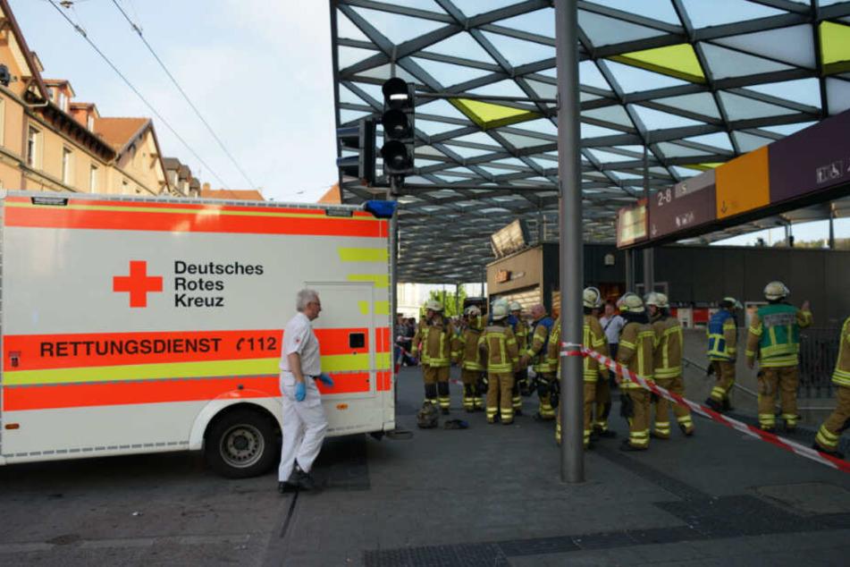 Der Esslinger Bahnhof wurde komplett abgesperrt.