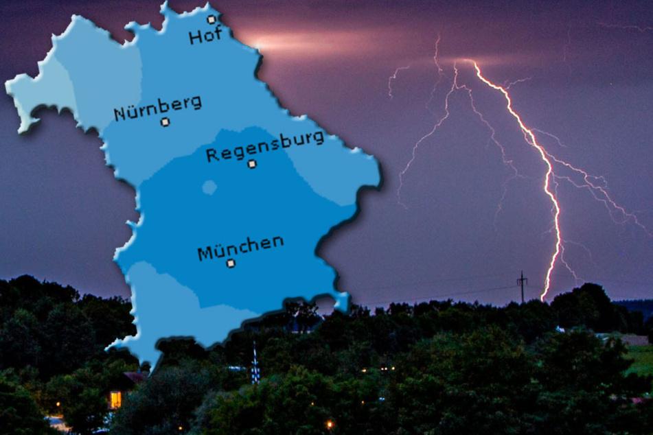 Gewitter und Regen aus Italien: Es wird nass in Bayern
