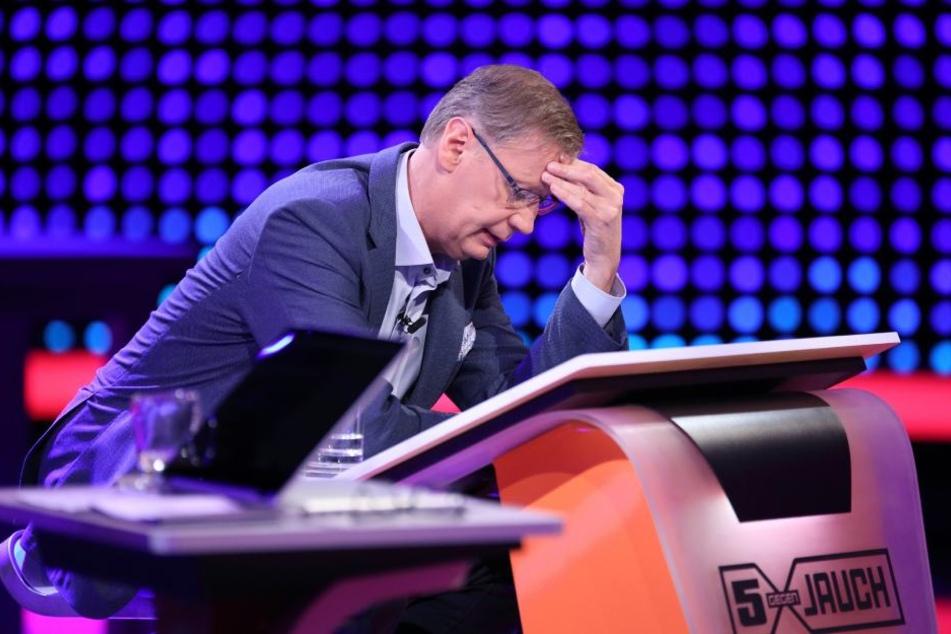 Auch Günther Jauch verzweifelt (wie wir) an der ein oder anderen Frage.