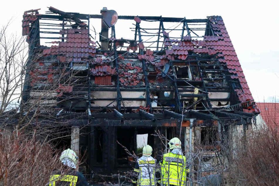 In Bannewitz brannte ein Wohnhaus.