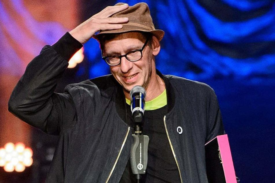 """Christian Lorenz alias Flake von der Band Rammstein bekommt den Preis für """"die beste Liveshow» bei der Verleihung des Preises für Popkultur des «Vereins zur Förderung der Popkultur"""". (Archivbild)"""