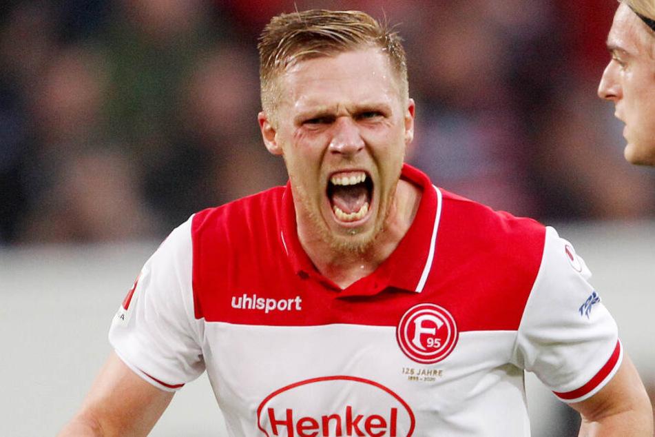 Rouwen Hennings von Fortuna Düsseldorf hat den Torinstinkt.