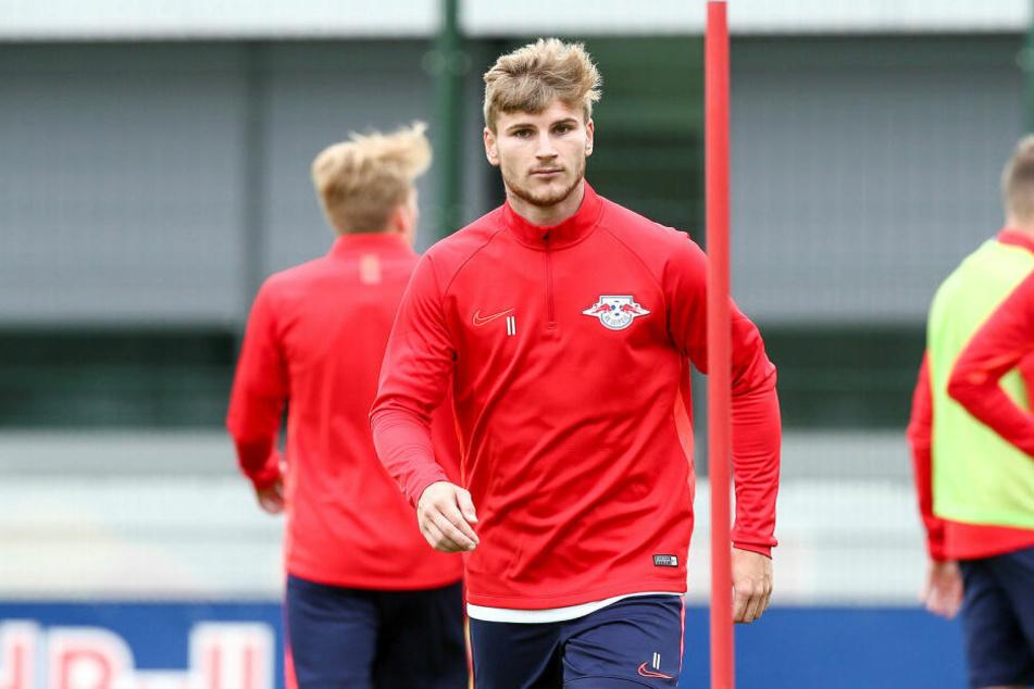 Stand am Montag nach dem Sommerurlaub wieder bei RB Leipzig auf dem Trainingsplatz: Nationalstürmer Timo Werner.