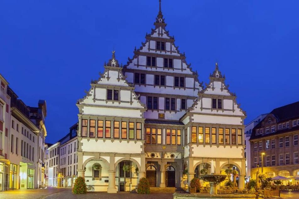 1616 entstand das Renaissance-Rathaus in Paderborn.