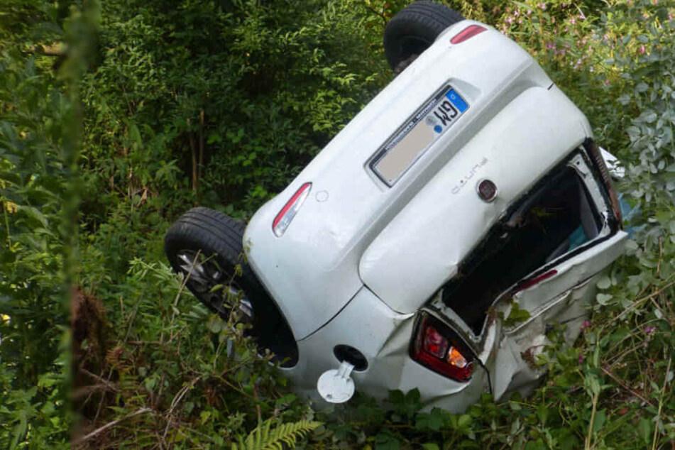 Der Fiat-Fahrer wurde schwer verletzt.