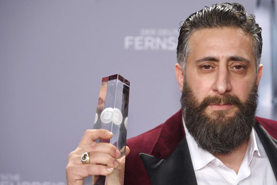 """Der Schauspieler Kida Khodr Ramadan ist Preisträger in der Kategorie """"Bester Schauspieler"""" bei der Verleihung des 19. Deutschen Fernsehpreises im Kölner Palladium."""