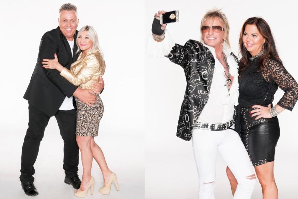 Aus dem Rheinland nach Portugal: Frank Fussbroich (l, 50) und Bert Wollersheim (67) mit ihren Partnerinnen.